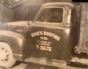 Old Edge's Roofing truck